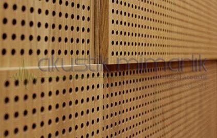 Akustik Ahşap Delikli Panel