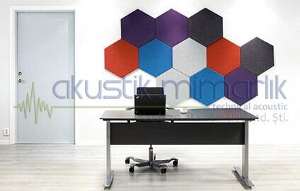 3D Altıgen Duvar Paneli