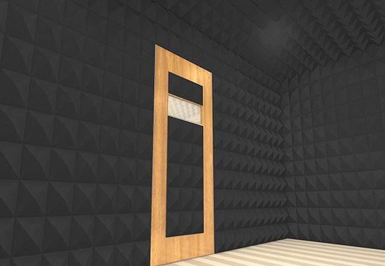 akustik kumaş kaplı piramit panel