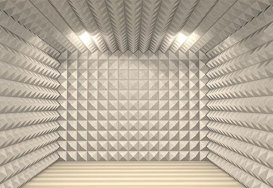 akustik kumaş kaplı piramit duvar paneli